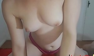 Teen with glasses makes blowjob dressing only panties - Ass surrounding