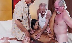 Dirty Venerable Men Pickup Hot Latina Teen Nikki Kay On Nude Beach Become high on a alight
