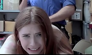 ShopLyfter - Redhead Teen Caught Defalcation Persuades Officer Relating to Sexual congress
