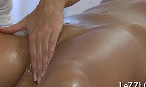 Dykes racy pussy massage