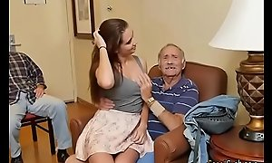 Bonny Teen Naomi Alice Blows Hung Elderly Guy
