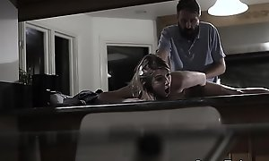 Lovely bigtits teen fucked by her stepdad