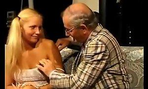 Teeny screwed by stirred up elderly man
