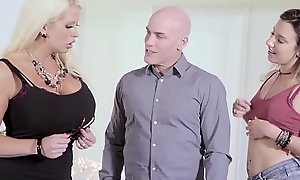 MILF Alura Jenson Loves Being Surprised Wits Hubby and Teen Mistress