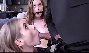 Teen Wife Danni Rivers Caught With Skinny MILF Lesbian Scrimp Ballpark Fucks Them Both