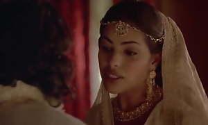 Indira Varma and Sarita Choudhury in a kamasutra blear