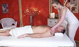 Massage Rooms Massive creampie for hot racy butt undevious tits teen