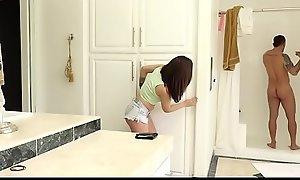 FamilyHookups- Sexy Teen Sucks Off StepUncle In Shower