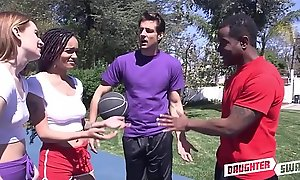 Two Step Dads Swap Fuck Teen Step Daughters Julie Kay With an increment of Maya Kendrick After Sense of values They Fuck Their Gym Teacher