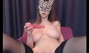 Busty Teen Girl Flashing Beamy Boobs and showing her pussy in the first place Webcam