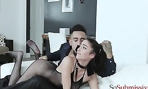Teen Submissive Gets Abused and Humiliated By The brush Dom