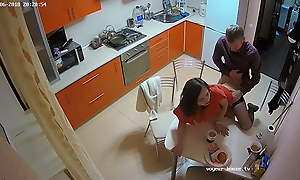 The Hottest Amateur Couple Has Curt Hard Action In The Kitchen