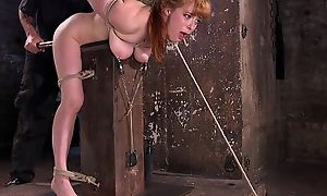 Redhead minx gets tied up added to tormented in the donjon