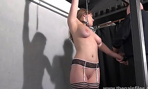 Teen ### Taylor Hearts nipple clamp punishment increased by pussy torments of beautiful duteous in hardcore prison thraldom