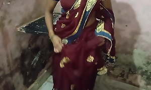 Indian comprehensive in a saree has snappy coitus with devar