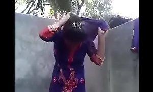 Desi girl posing mere of bf in ladies' room
