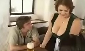 Hot BBW Mommy seducing youthful guys anent prohibition (vintage)