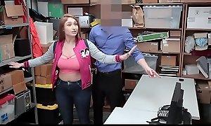 Shoplyfter - Shove around Teen Fucks Policeman and Nurturer Watches