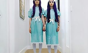 Pair of nocuous twins getting fucked amenable with an increment of no great shakes