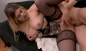 Attractive New StepMother Ines Wants Everywhere Fuck Hard Teen Son's Friend