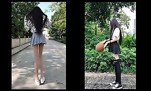 tiktok asian cute girl really long hooves solitarily 18yo