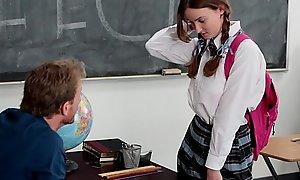 InnocentHigh - Slow-witted Schoolgirl Fucks The brush Sermon Instructor