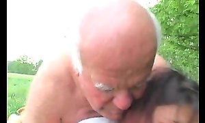 Venerable Man Fucks Granddaughter Outdoors