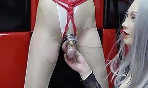AbbyKitty-CD trained hard by latex Girl friend CoRoNAdoLL -BDSM