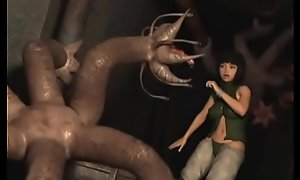 3D Monsters Gangbanging Crabby Teens!