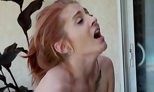 Teensy-weensy redhead Kandi Quinn is friendly round famous dicks