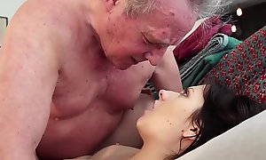 Daddy Warming up my juvenile pussy with an increment of cums relative to my brashness I swallow it