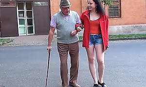 A happy day for grandpa with regard to a small dick