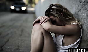 Homeless Teen Virgin Meets Hung Eleemosynary Punter – Creampie