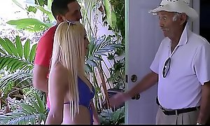 Sexy Blonde Step Sister Criminal conversation be beneficial to Chubby Titties Aspen Romanoff Fucked By Step Brother On Grandpas Walker