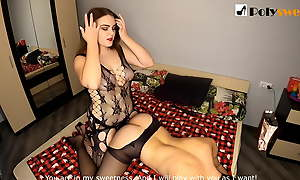 Nice girl wants to be a strapon mistress coupled with fucks a guy