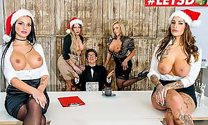 LETSDOEIT Christmas Office Sex With Mia Blow & Top brass Decoration 1