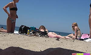Stunning PAWG Teens, thongs, big asses spied exposed to eradicate affect beach, hidden camera