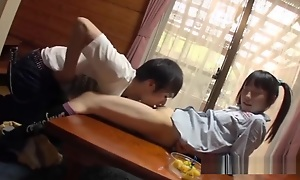Jav Teen Asami Tsuchiya Gets Her Close-matched Pussy Shivered In good shape Gives BJ