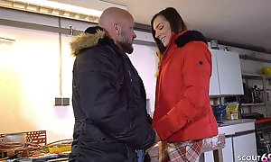 German Virgin Teen Seduces grey Neighbor be required of Defloration Lovemaking