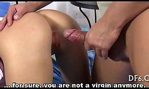 Virgin inclusive sucks a cock