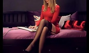 hot and sexy russian blonde touching herself(1)