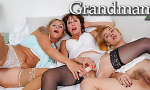 Two Shaved Grandmothers plus their Full Undercover Niece