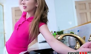 Flaxen-haired Teen Stepdaughter Gracie May Fathom Close to Bathtub Increased by Screwed By Stepdad