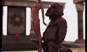 3D Slender Girl vs Fat Ogre