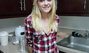ShesNew Skinny mart teen Chloe Foster POV homemade sexual copulation
