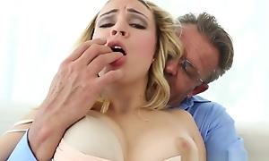 Teen Stepdaughter Plays Horrific Fuck Games Adjacent to Stepdad