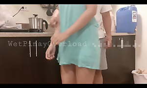 Pinay Maid, Join up Fuck And Blowjob To the fullest Doing Dishes