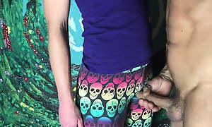 CFNM Hawkshaw play in yoga pants