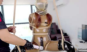 Magnificent Asian latex schoolgirl DOVE, telegraph subjection with the addition of bearing behave oneself