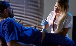 Whorish blonde be attracted to sucking with an increment of fucking doctor's hard cock